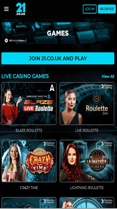 mcasino game mobile