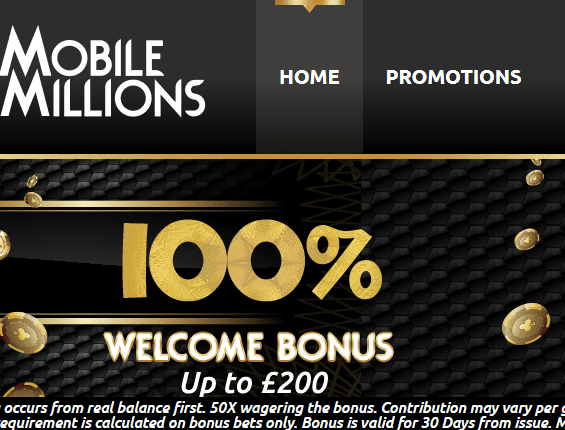 mobile millions front page