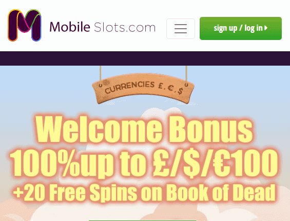 mobile slots front page