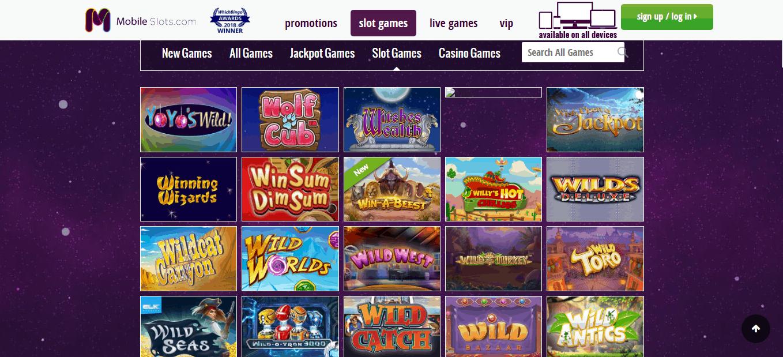 mobile slots gamepage
