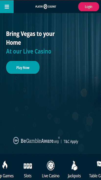 platincasino home mobile