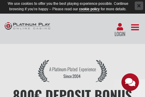 platinum play casino front image