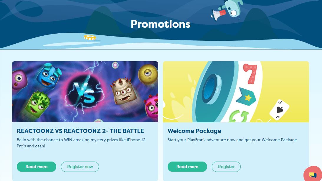 playfrank promotion