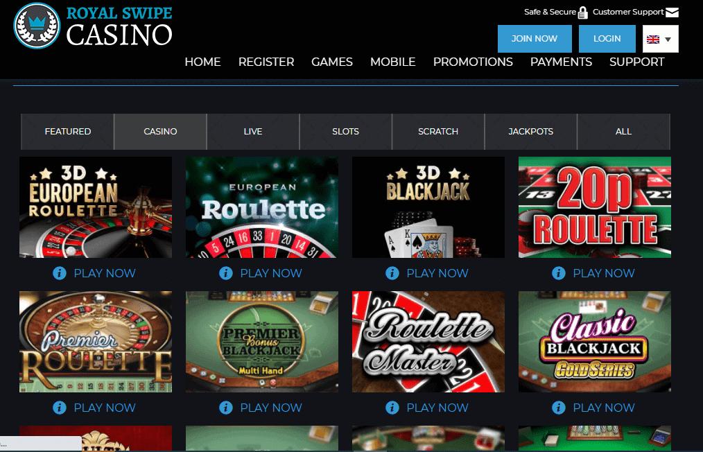 royal swipe casino game