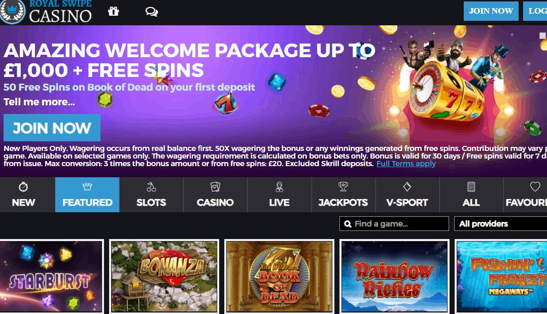 royal swipe casino home
