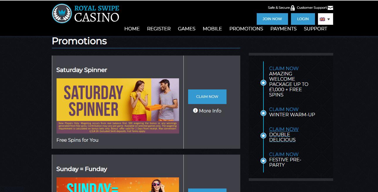 royal swipe casino promotion