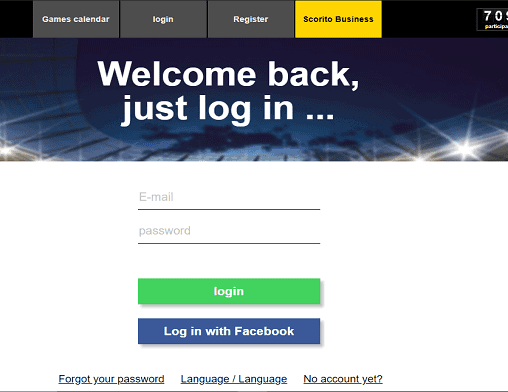 Luxury Casino login page