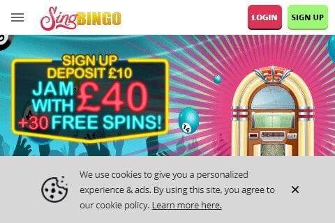 sing bingo front image