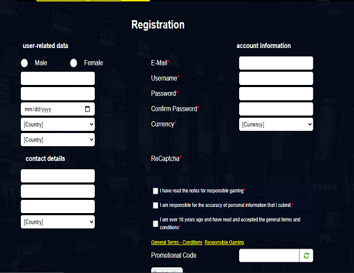 voodoodream sign up page