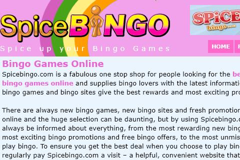 Spice Bingo Home