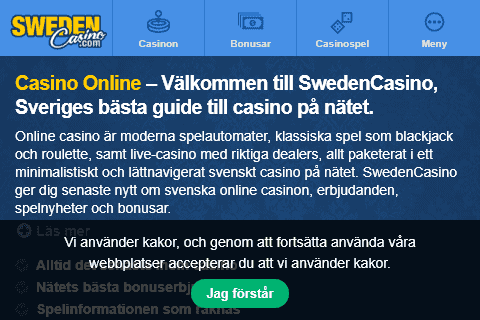 sweden casino front image