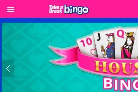 Take a Break Bingo front page