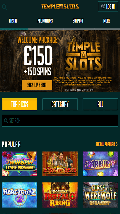 templeslots home mobile