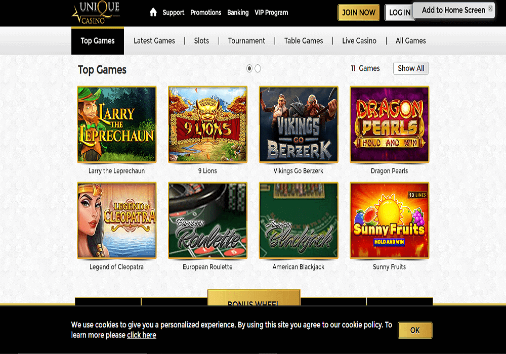 one spin games page