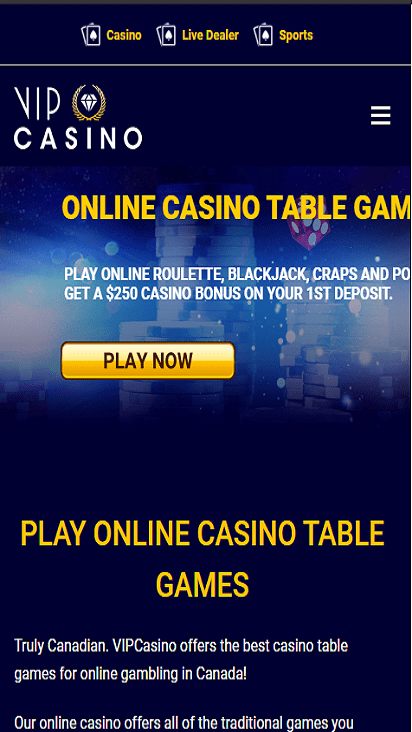 vipcasino game mobile