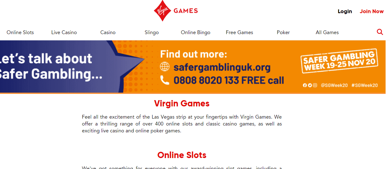 virgingames home