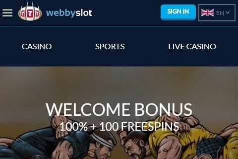 webbyslot front image