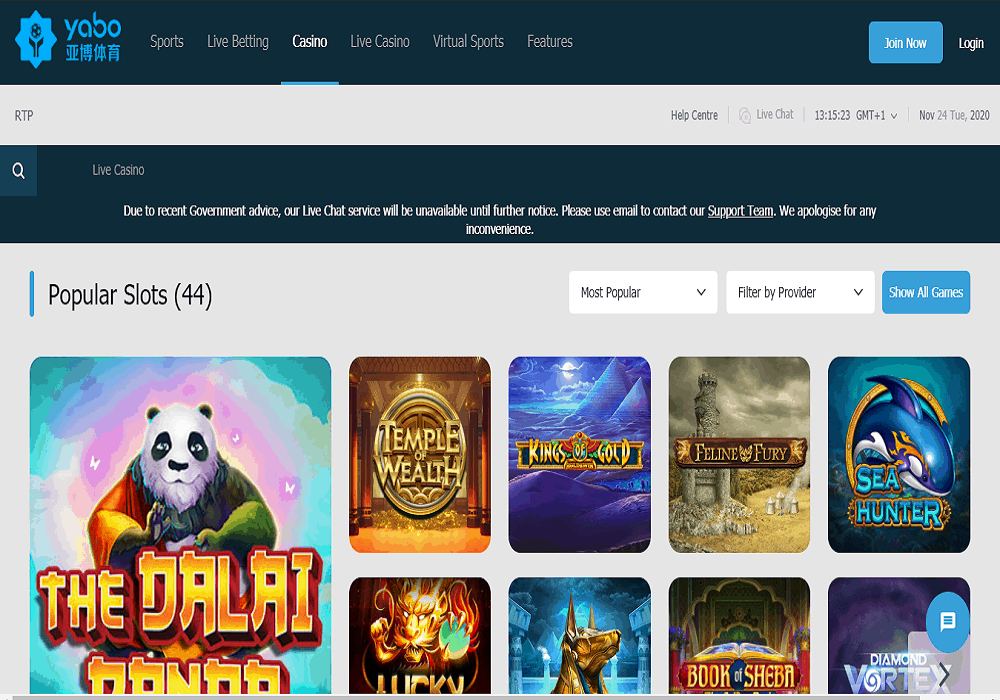 bet vision casino games