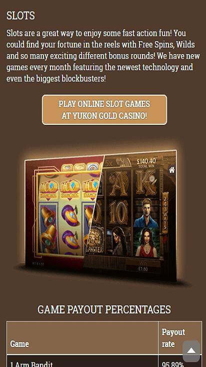 yukongoldcasino game mobile