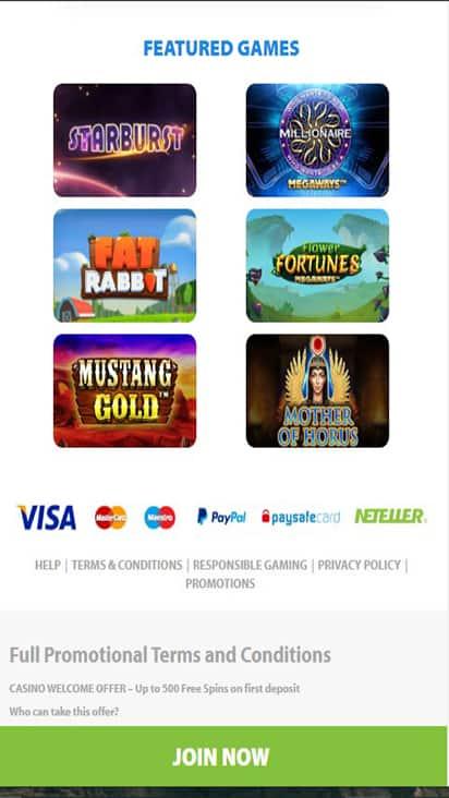 BGO Bingo game mobile