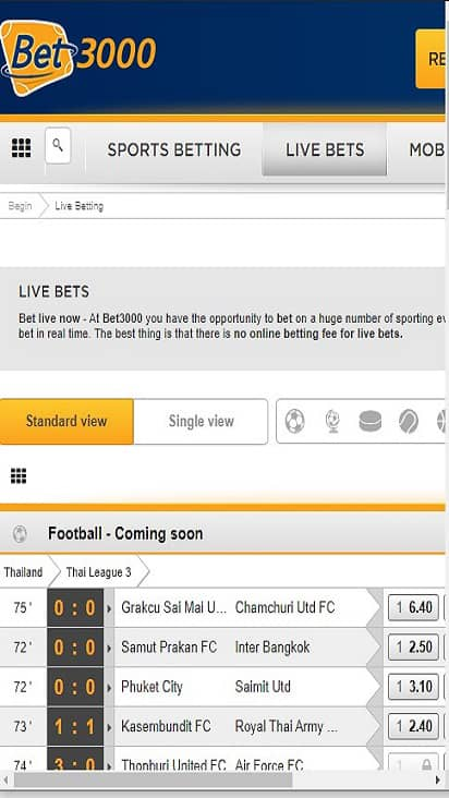 Bet 3000 game mobile