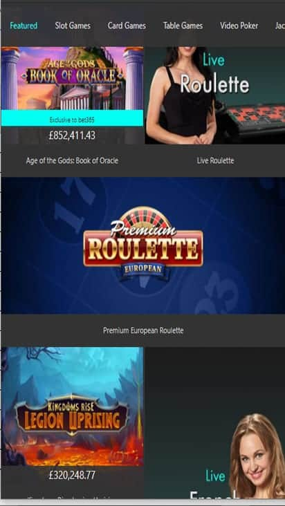 Bet365 game mobile