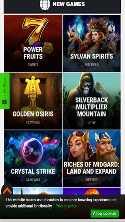 Big 5 Casino game mobile
