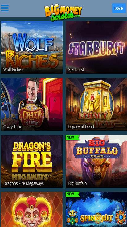 BigMoneyScratch game mobile