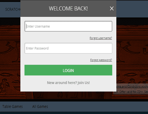 green play login page