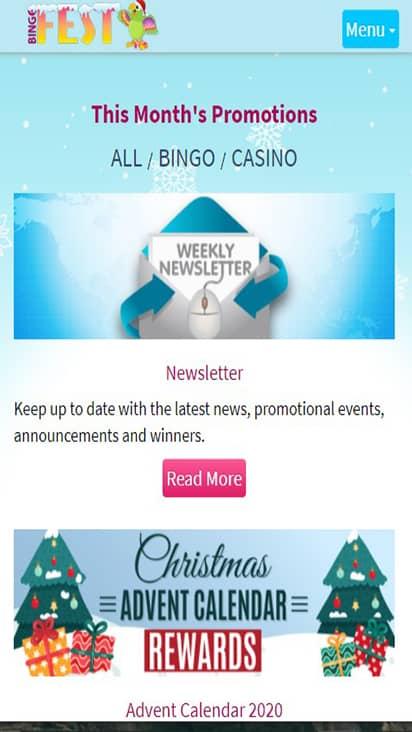 Bingo Fest pormo mobile