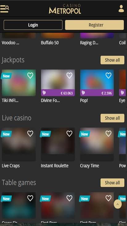Casino Metropol game mobile