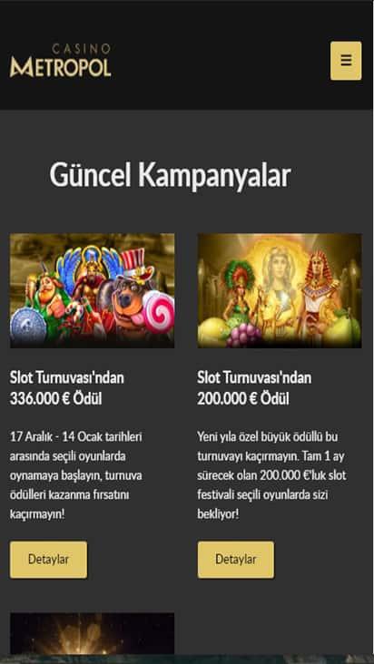 Casino Metropol promo mobile