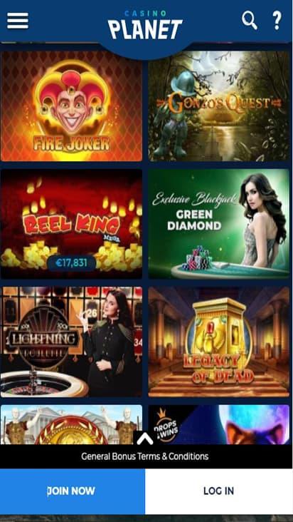 Casino Planet game mobile