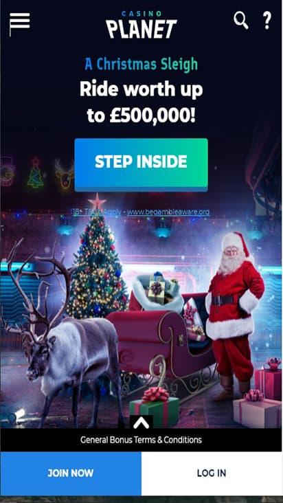 Casino Planet home mobile