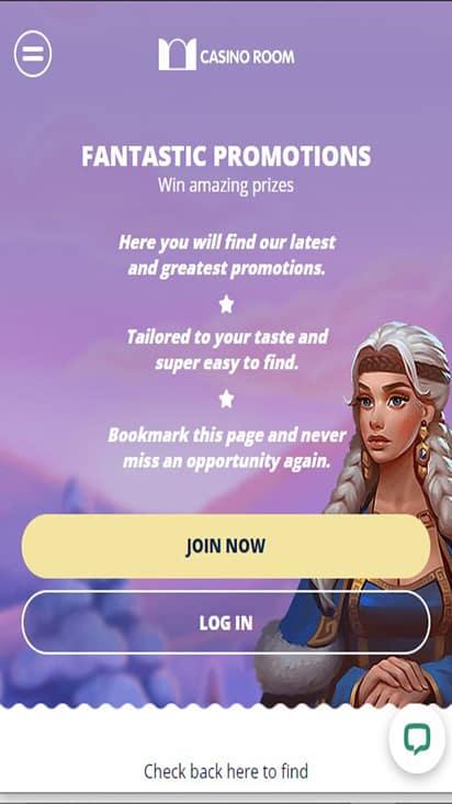 Casino Room promo mobile