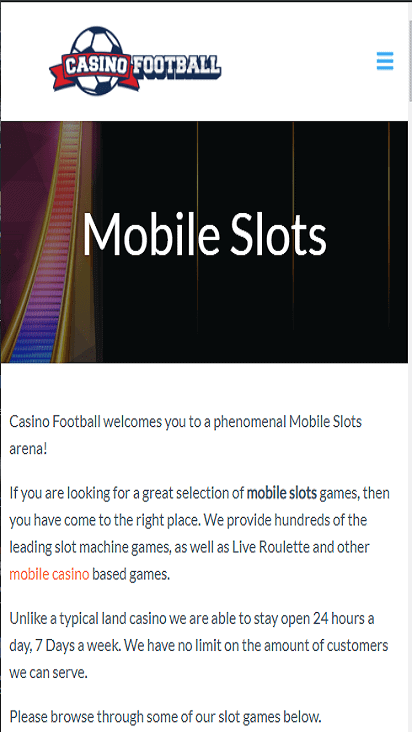 CasinoFootball G M
