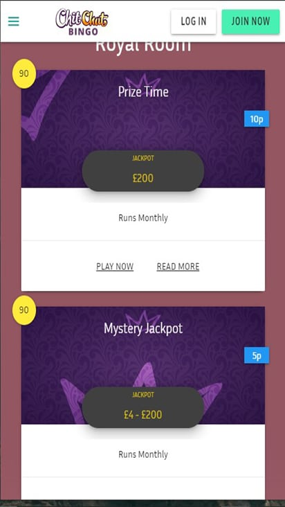 Chit Chat Bingo game mobile