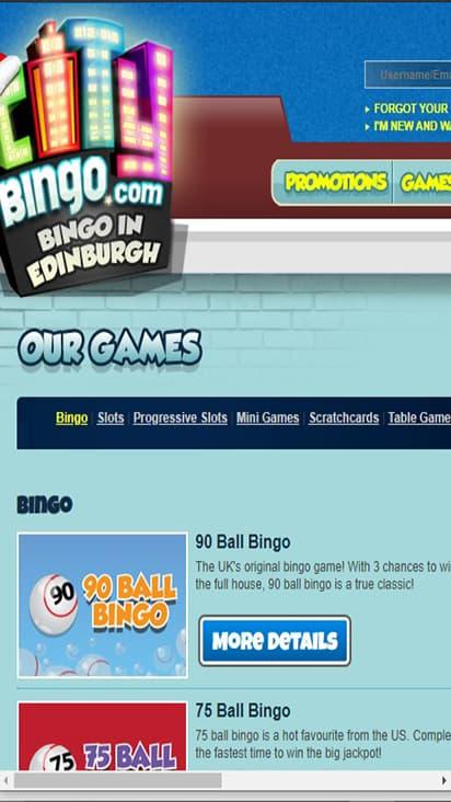City Bingo game mobile