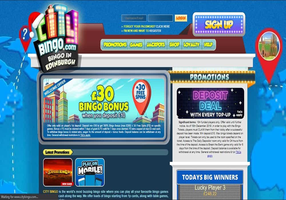 city bingo home