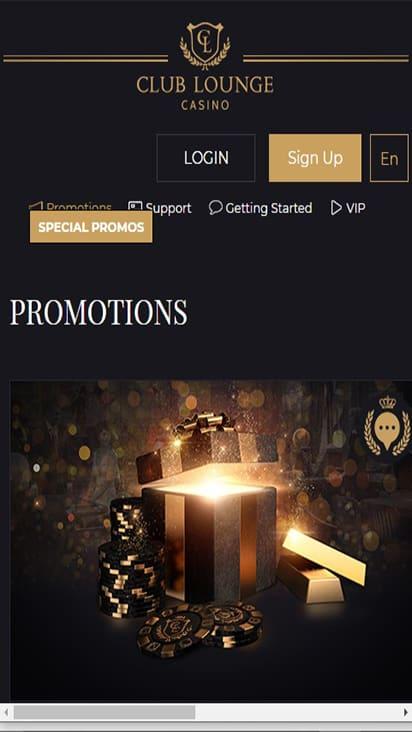 Club Lounge Casino promo mobile