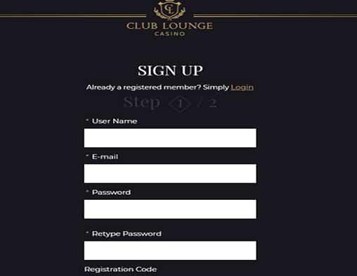 club lounge casino sign up
