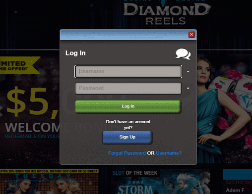 Kerching login page