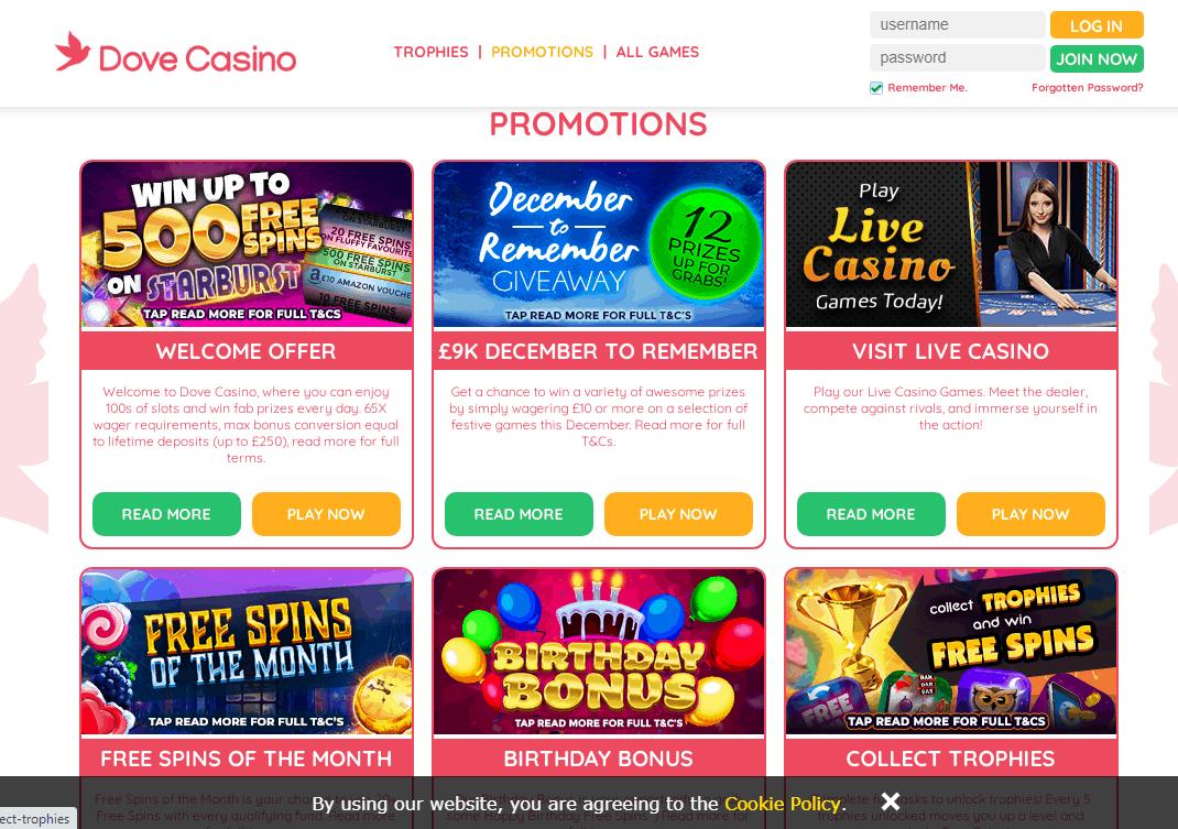 Dove Casino Promotions