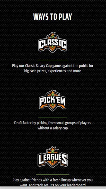 Draft Kings game mobile