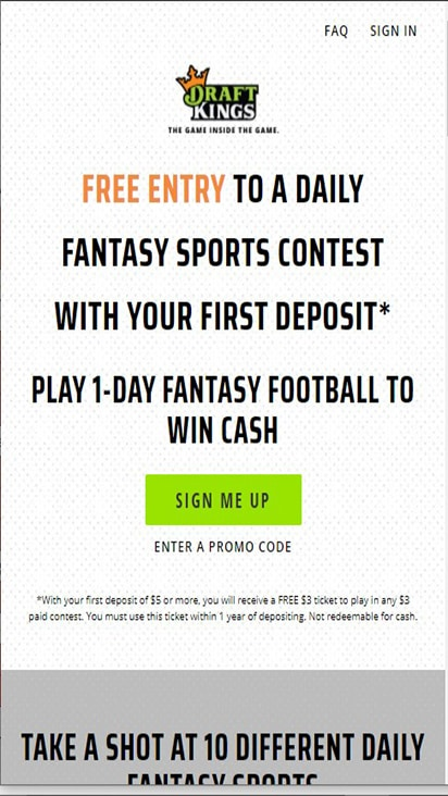 Draft Kings home mobile