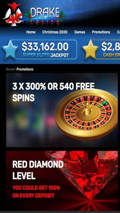 Drake Casino promo mobile