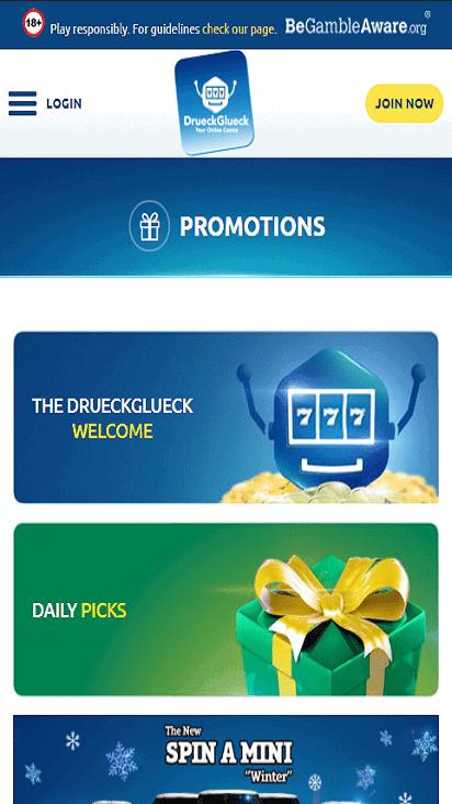 DrueckGlueck pomo mobile