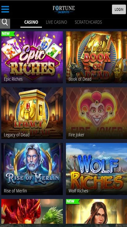 Fortune Jackpots game mobile