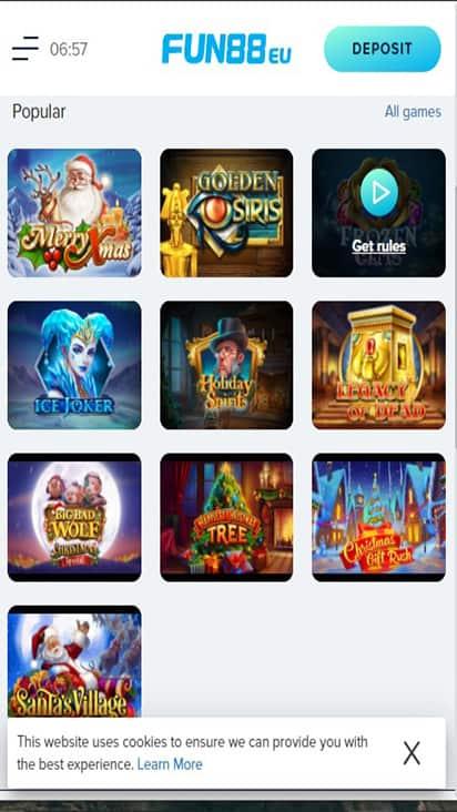 Fun 88 EU game mobile