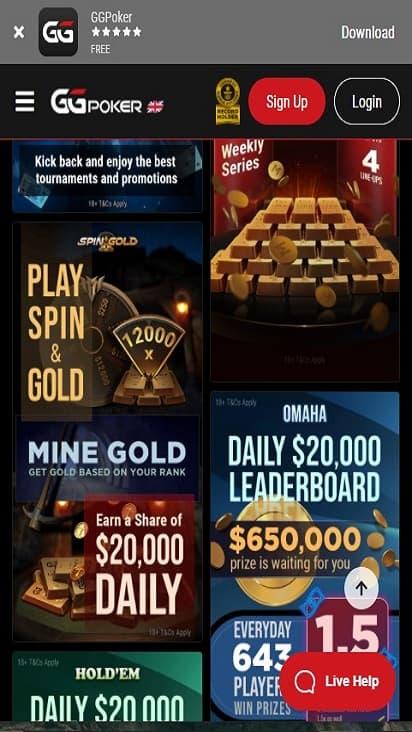 GG Poker game mobile